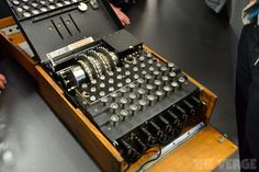 German Enigma machine from 1936 Enigma Machine, Bletchley Park, The Imitation Game, Old Technology, Military Equipment, Vintage Travel, Milton Keynes, Cool Stuff, Candies