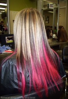 Thinking about getting colored hair extensions put in ...