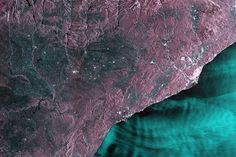 Catalan coast, Spain. This Sentinel-1A radar image captures part of Catalonia in northeastern Spain including the city of Barcelona (right). At the centre-left, we can see bright radar reflections from the city of Lleida. Blue–green colours show cultivated landscape of this area's plateaus, where crops such as wheat, barley, fruits and vegetables are grown. (Credit: ESA)