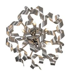 Plafonnier design 6 lumières en aluminium Atoma - Alu