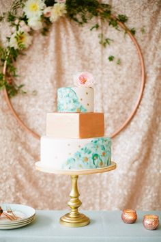 Gorgeous cake by Haute so Sweet - Betsi Ewing Photopraphy
