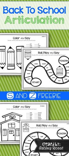 Download this FREE no prep printable that targets articulation at the word level for S, S blends, and Z sounds. It has drill sheets that students can color and game boards for each sound! Perfect for speech therapy and homework.