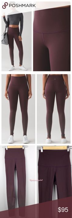Lululemon Wunder Under Pant High Rise *Luxt Ombré In ombré black cherry. These versatile high rise tights were designed to fit like a second skin. Made with full on luxtreme fabric that offers great support and coverage with a cool and smooth feel. Four way stretch, sweat wicking with added Lycra fibre for great shape retention and support. Pocket in waistband hold card or key. Like new.  All reasonable offers are welcome. Please make all offers through the offer button🤗 lululemon athletica…