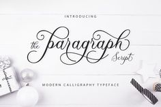 Paragraph Script  by Siwox Core LineType on @creativemarket