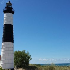"""#bigsaublelighthouse #nofilter #michigan #ludingtonstatepark #puremichigan"" Photo taken by @badtothebinding on Instagram, pinned via the InstaPin iOS App! http://www.instapinapp.com (08/15/2015)"