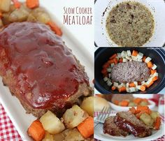 With fall almost here this Slow Cooker Meatloaf Recipe is going to become a weekly meal in our house. This past weekend I was asking the family what they wo