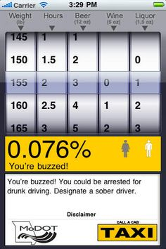 Been drinking? Are you buzzed? With Show Me My Buzz you'll know for sure how buzzed you are!
