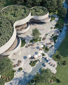 Hotel Architecture, Landscape Architecture Design, Green Architecture, Futuristic Architecture, Concept Architecture, Architecture Details, Environmental Architecture, Environmental Engineering, Parametric Architecture