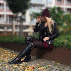 Questo #combo di colori adoro tutto #inverno #winter #burgundy #outfit
