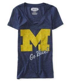 University of Michigan® V-Neck Graphic T