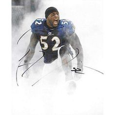 Ray Lewis Baltimore Ravens, Signed, Autographed, 8X10 Photo, a COA with the Proof Photo of Ray Signing Will Be Included