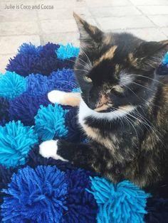 DIY Pom Pom Cat Bed