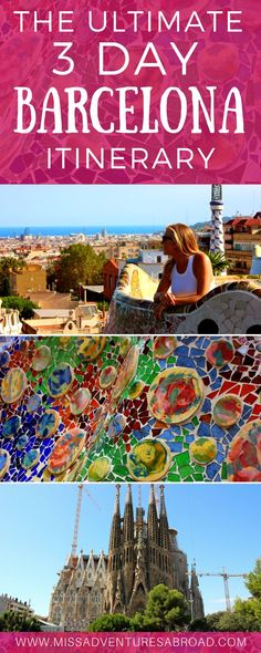 3 Perfect Days in Barcelona: The Ultimate Itinerary. How to spend three days in Barcelona-see Gaudi's incredible architecture, explore the historic Gothic District, hit the beach, and more with these essential tips for visiting Barcelona!