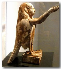 Egyptian god/goddess Ba-Bird. 6th-4th century B.C. Inv.nr.2126. Roemer Pelizaeus Museum, Hildesheim.The ancient Egyptians believed that a human soul was made up of five parts: the Ren, the Ba, the Ka, the Sheut, and the Ib. In addition to these components of the soul there was the human body (called the ha, occasionally a plural haw, meaning approximately sum of bodily parts). The other souls were aakhu, khaibut, and khat.