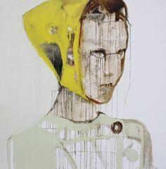 "Saatchi Art Artist Patricia Derks; Painting, ""yellow cap girl"" #art"