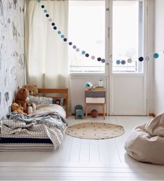 ellas inspiration - blue and grey kids room