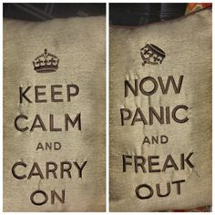 "Robert Hanning on Twitter: ""#Castle #BTS both sides of the throw pillow on chair in Castle's loft office. Seems about right, huh?"""