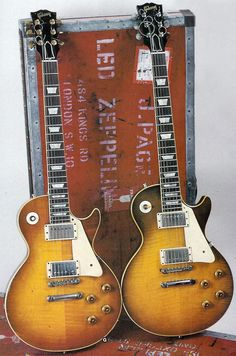 Jimmy Page's #1 and #2 Les Pauls