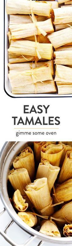 Learn how to make tamales with this easy recipe and step-by-step tutorial! They're easy to customize with your favorite fillings (chicken, beef, pork, cheese, beans, veggies, etc.), they're easy to steam on the stovetop or Instant Pot, they're easy to make ahead and freeze for meal prep, and they're SO delicious! | Gimme Some Oven #tamales #mexican #mealprep #glutenfree #cincodemayo