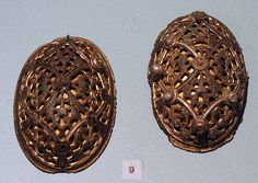 ENGLISH: Buckles from the Viking age. Found in Hornindal, Western Norway.Exhibited at Bergen museum.