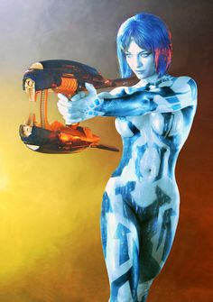 Amazing Cortana Halo Cosplay as seen on Fashionably Geek Halo Cosplay, Cortana Cosplay, Top Cosplay, Amazing Cosplay, Best Cosplay, Anime Cosplay, Cosplay Girls, Amazing Costumes, Female Cosplay