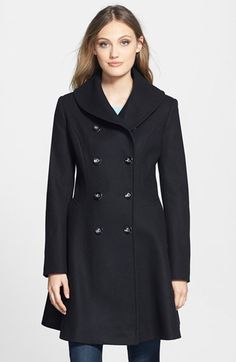 Via Spiga Skirted Wool Blend Coat available at #Nordstrom