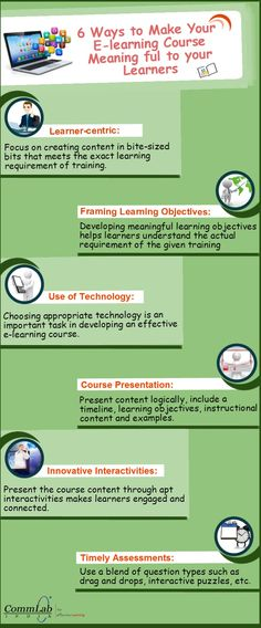 6 Ways to Make your #Elearning Course Meaningful - An #Infographic