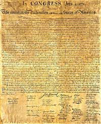 The Declaration of Independence consists of 3 parts. The first part is the natural law framework. Here are the inalienable human rights of Individuals described. Actions against the British crown are described in the second part of the explanation. The separation from the British mother country is in the third part of the Declaration of Independence and explains the need of detachment from the British government.