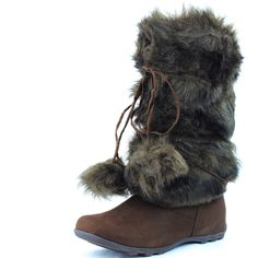 Women's DailyShoes Warmer-02 Mukluk Boots Faux Fur Round Toe Ankle High Winter Bootie -- Tried it! Love it! Click the image. : Women's snow boots
