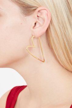 Heartbreaker Hoop Earrings in Gold, Silver & Rose Gold Sterling Silver Jewelry, Gold Jewelry, Fine Jewelry, Heart Earrings, Hoop Earrings, Cleaning Silver Jewelry, Style Challenge, Queen Of Hearts, Rose Quartz