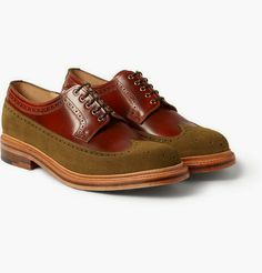The Good Cobbler Has His Limits: Grenson G-Lab Burnished Leather and Suede Wingtip #Brogues ~ #SHOEOGRAPHY #mensshoes