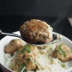 Thai curry turkey meatballs - ShrinkingSingle