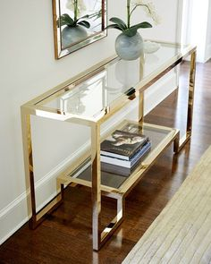 Shop Cole Console Table from Interlude Home at Horchow, where you'll find new lower shipping on hundreds of home furnishings and gifts. Dining Room Console, Modern Console Tables, Furniture Decor, Furniture Design, Plywood Furniture, Chair Design, Design Design, Modern Furniture, Home Interior