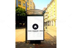Bus Stop Mockup by graphichouse on @creativemarket