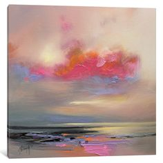 'Magenta Cloud' by Scott Naismith Painting Print on Wrapped Canvas