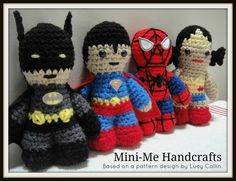 Jelly Bean Jam: Made It Monday - Super Heroes Amigurumi adapted from Lucy Ravenscar Star Wars pattern! I was thinking of doing something similar, only Star TREK...Luke would make a great Picard!