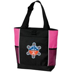 Puerto Rican Flags Up Personalized Colorblock Tote Bag