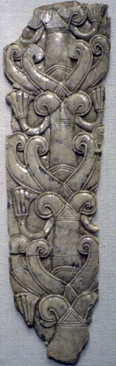 Tree of life. SYRO-PHOENICIAN  | c. 799 BCE-600 BCE | Levantine | Phoenician | Ivory | | | ©Kathleen Cohen |