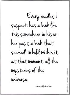 """Books and Reading •~• Anna Quindlen (For me, that book would be, """"The Agony and The Ecstasy."""" ~ Heather)"""