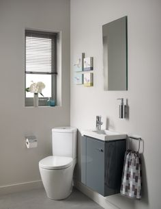 4 Corner solutions such as the Compact Space range from Ideal Standard is specifically designed for bathrooms and cloakrooms where floor space is at a premium. Popping this little baby into the corner will definitely help to make room for other sanitaryware. Shown here with the Concept Space guest furniture basin and wall-hung guest basin unit in Gloss Grey, the range also includes a corner basin and pedestal basin. Prices start at £116 for the basin and £441 for the WC.