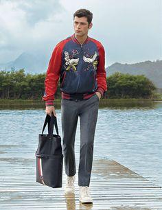 Model: Sean O'Pry Retailer: Americana Manhasset Sean O'pry, Spring 2016, Giorgio Armani, Catalog, Underwear, Menswear, Jackets, Clothes, Fashion