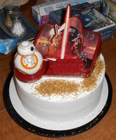 """Cake Topper - The Force Awakens My wife declared this """"Star Wars Day"""", this was the cake we celebrated with."""
