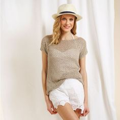 Knit a lovely linen lace top for summer