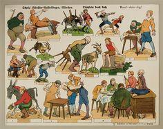 Scholz` Künstler=Aufstellbogen, Märchen. Tischlein deck dich. Aufstellbilder auf dickem  Papier (33x43 cm) No. 60 K.