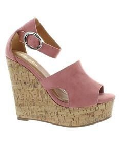 e68ebd48b165 Look what I found on  zulily! Mauve   Cork Deana Wedge Sandal  zulilyfinds
