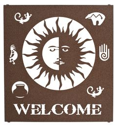 Sun Welcome Sign Wall Art www.rusticeditions.com