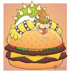 Bowser Burgers by weasel-punk.deviantart.com on @deviantART