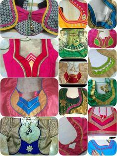 Best 12 Blouse design – Page 306667055875649589 – SkillOfKing. Blouse Back Neck Designs, Simple Blouse Designs, Stylish Blouse Design, Kurtha Designs, Chudi Neck Designs, Neckline Designs, Hand Designs, Blouse Designs Catalogue, Salwar Suit Neck Designs