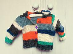 Knitted hooded striped sweater. €54.95, via Etsy. by mikmakwinkel