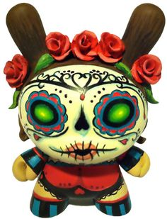 Day of the Dead Dunny by MaloApril make your own--customizable kidrobot munny toys available at www.lazydazeco.com!